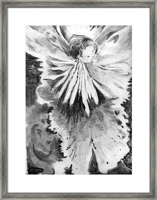 Grace In An Orchid Framed Print by Mindy Newman