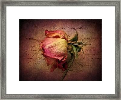 Grace Framed Print by Jessica Jenney