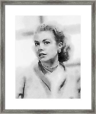 Grace Kelly By John Springfield Framed Print