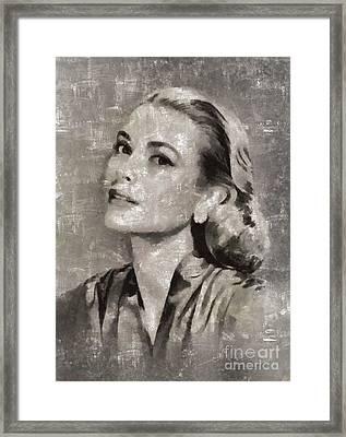 Grace Kelly By Mary Bassett Framed Print