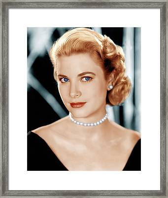 Grace Kelly, Ca. 1953 Framed Print by Everett