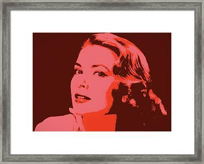 Grace Kelly Pop Art Framed Print by Dan Sproul