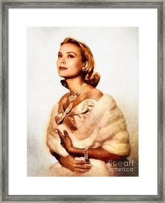 Grace Kelly, Vintage Actress By John Springfield Framed Print
