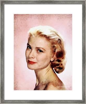 Grace Kelly, Vintage Actress Framed Print