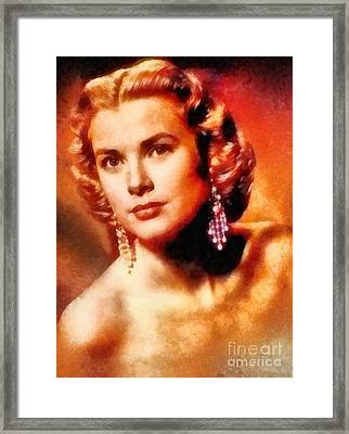 Grace Kelly, Vintage Hollywood Actress Framed Print