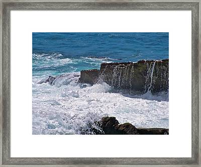 Grace Of The Waves Framed Print by Debra     Vatalaro