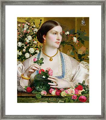 Grace Rose Framed Print by Anthony Frederick Augustus Sandys