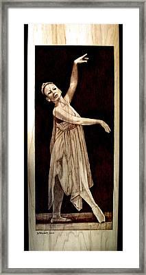 Grace Touching Light Framed Print by Jo Schwartz