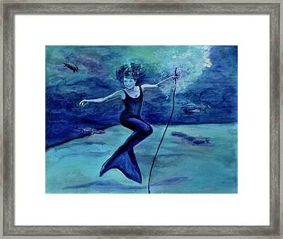 Grace Under Water Framed Print