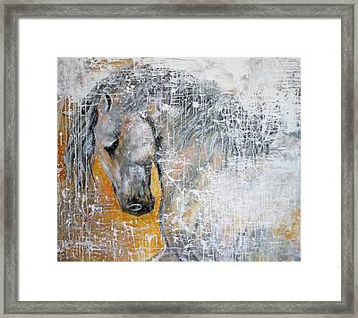 Abstract Horse Painting Graceful Beauty Framed Print