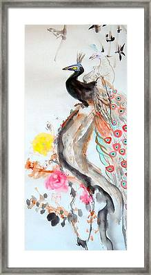 Graceful Couple Framed Print by Janpen Sherwood