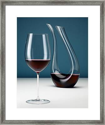 Graceful Merlot Framed Print