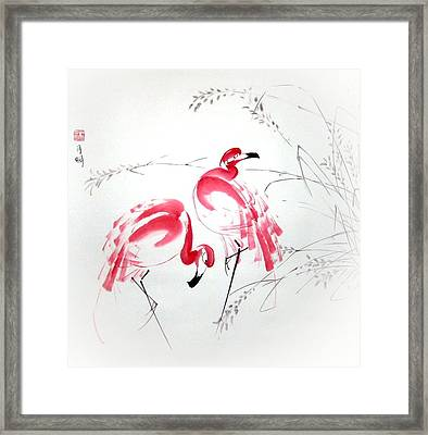Graceful Pair Framed Print by Ming Yeung