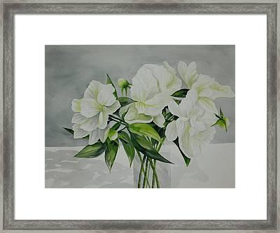 Graceful Peonies Framed Print