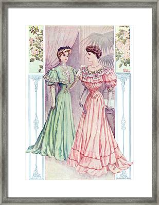 Graceful Princess Dress Framed Print