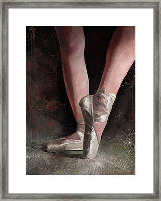 Framed Print featuring the digital art Graceful Slippers by Steve Goad