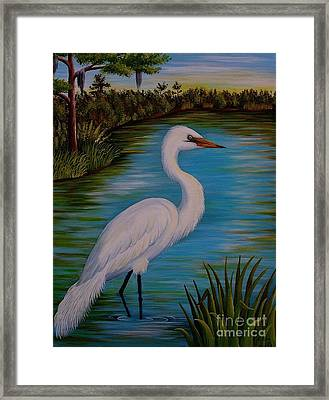 Gracefully Waiting Framed Print