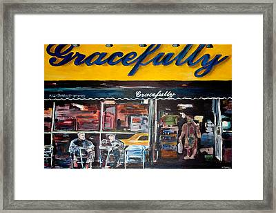 Gracefully Framed Print by Wayne Pearce