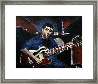 Framed Print featuring the painting Graceland Tribute To Paul Simon by Seth Weaver