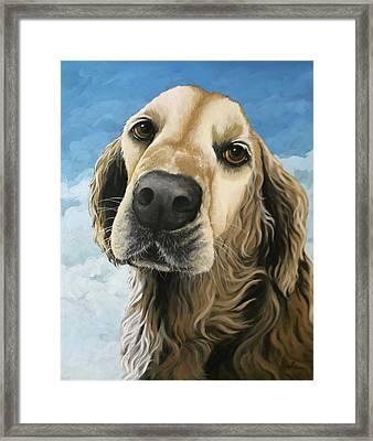 Gracie - Golden Retriever Dog Portrait Framed Print