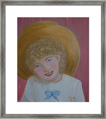 Gracie In Gramma Framed Print by Mary Kaser