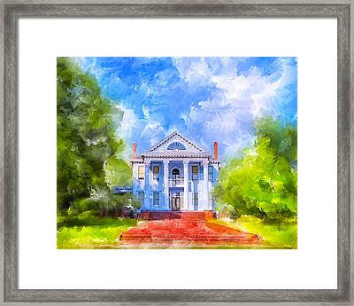 Gracious Living - Classic Southern Home Framed Print