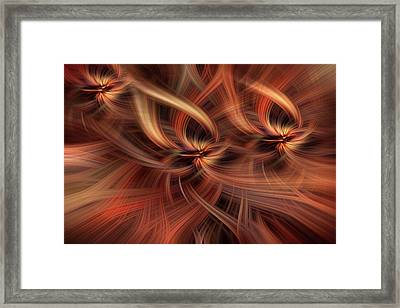 Graciousness. Mystery Of Colors Framed Print by Jenny Rainbow