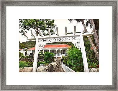 Graden Entrance Framed Print by Ingrid Zagers