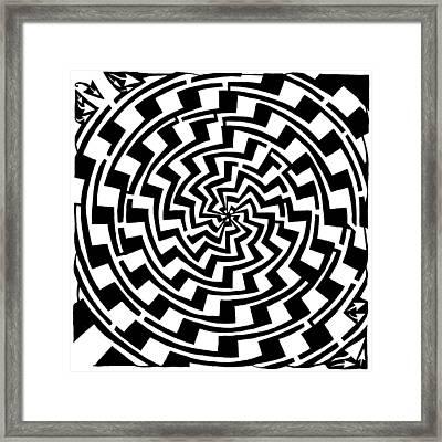 Gradient Tunnel Spin Maze Framed Print by Yonatan Frimer Maze Artist