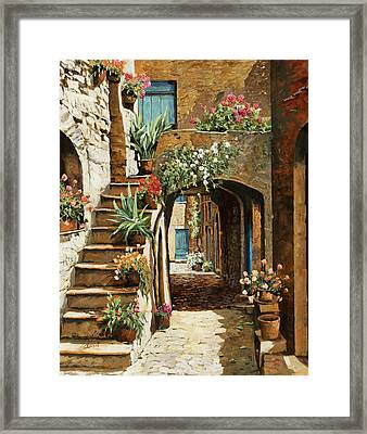 Gradini In Cortile Framed Print
