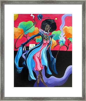 Graduated With Hiii Honors Framed Print by JaFleu