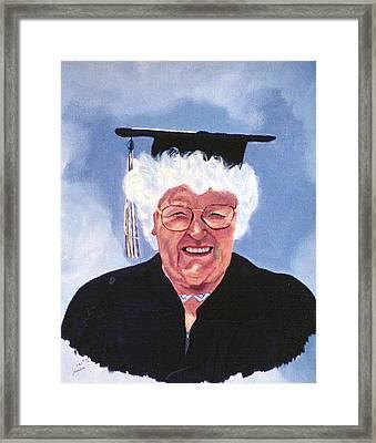 Graduation At 75 Framed Print by Stan Hamilton