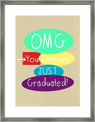 Graduation Card Framed Print by Linda Woods