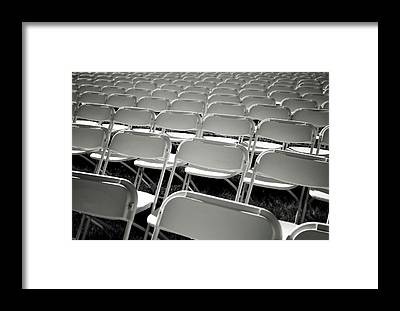 Empty Chairs Framed Prints