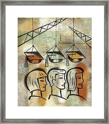 Graduation Framed Print by Leon Zernitsky