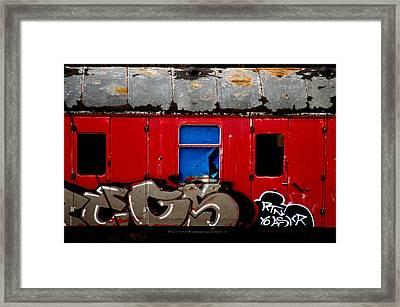 Graff Train Framed Print by Jez C Self
