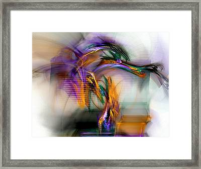 Graffiti - Fractal Art Framed Print