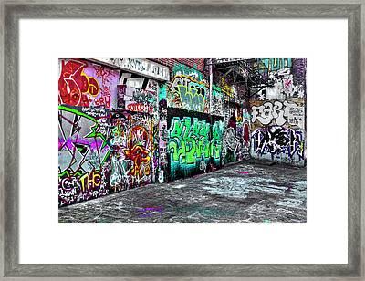 Graffiti Alley Framed Print