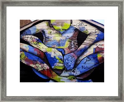 Graffiti Art.  Peace Framed Print by Cat Jackson