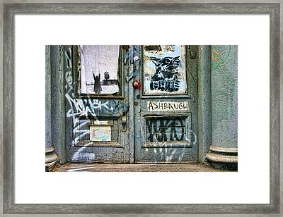 Graffiti Door Framed Print