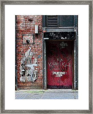 Graffiti Door Framed Print by Paul Jarrett