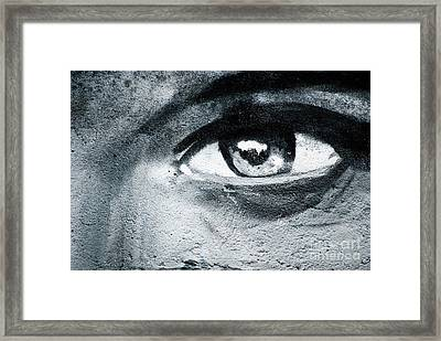 Framed Print featuring the painting Graffiti Eye by Yurix Sardinelly