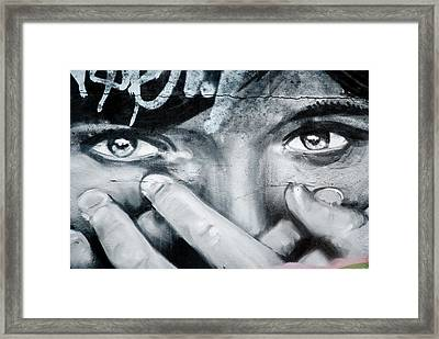 Graffiti Eyes Framed Print