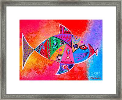 Graffiti Fish Framed Print