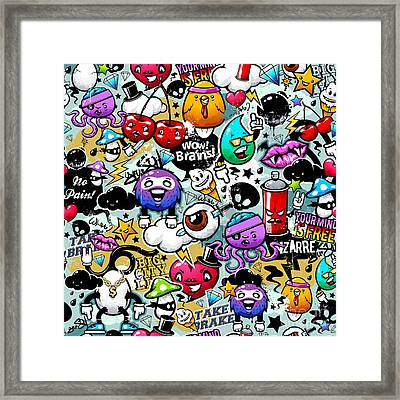 Graffiti Fun Framed Print by Mark Ashkenazi