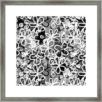 Framed Print featuring the mixed media Graffiti Garden - Art By Linda Woods by Linda Woods