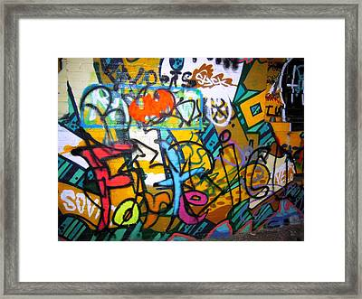 Graffiti In A Baltimore Alley Framed Print