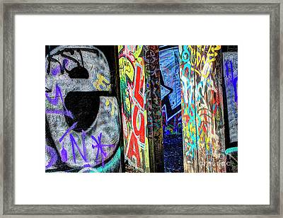 Framed Print featuring the photograph Graffiti Mosaic by Terry Rowe