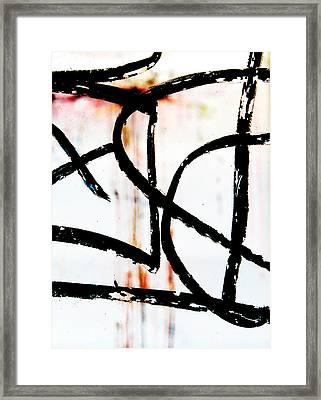 Graffiti On Glass Framed Print