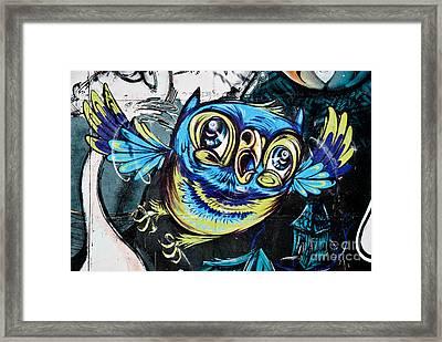 Graffiti Owl Framed Print